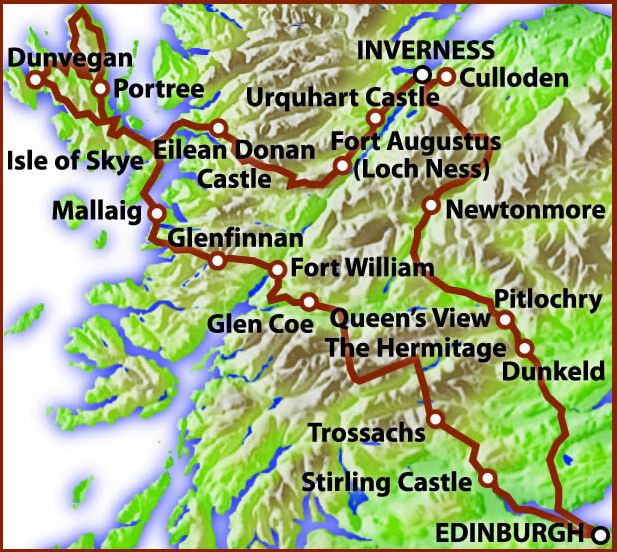 Tour Print Scottish Highland and Island Special Tour