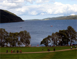 On the shores of Loch Ness and Highlands Experience Tour from Edinburgh