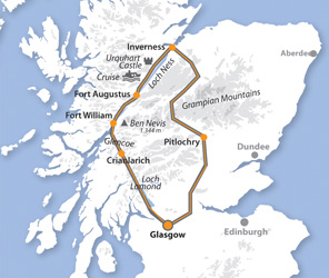 Fort Williams Scotland Map.Day Tour To Loch Ness And The Highlands From Glasgow