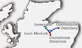 Cairngorm National Park and Speyside Whisky Tour from Inverness