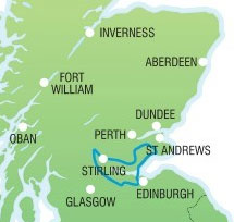 Outlander Explorer Day Tour from Edinburgh - map