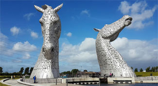 The Kelpies and Falkirk Wheel Half Day Tour